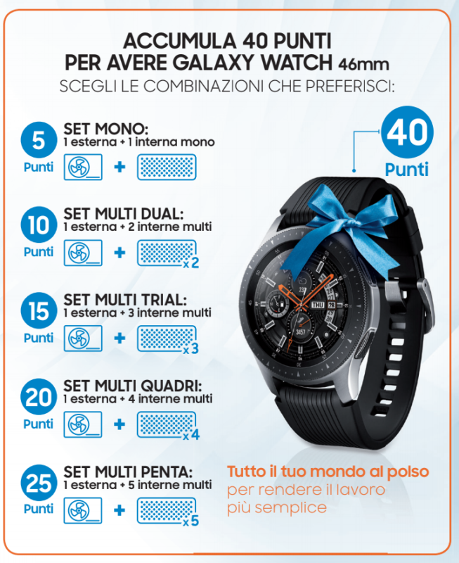samsung galaxy watch windfree 40 punti